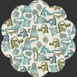 Secret Zebra Bleu in Knit
