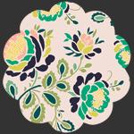 Stenciled Petals Floralia in Knit