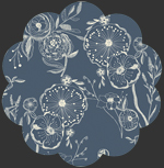 Line Drawings Bluing in Knit