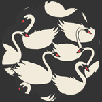 Swanlings Bevy Nightfall in Canvas Organics