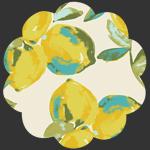 Yuma Lemons Mist in Canvas