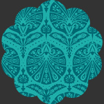 Coquille Damask Teal