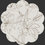 Fair Peonies Traced