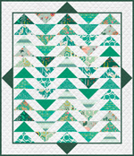Temporarily out of stock Plenum Quilt - No.7 Emerald Stone - FQ