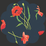 Poppy Memories in Rayon