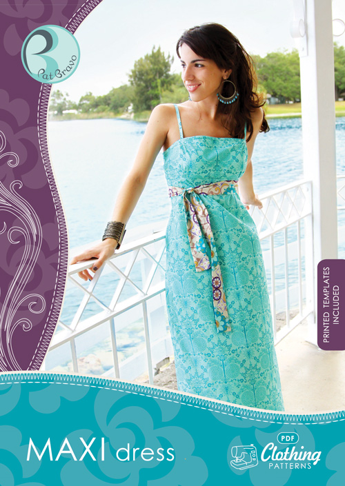 Maxi Dress, CP-402, SEWING PATTERNS, Product Catalog, Art Gallery ...