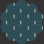 Simple Defoliage Foresta in Knit