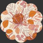 Seasonal Bouquet Plum in Flannel