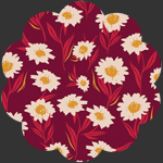 Bountiful Daisies Cherry in Knit