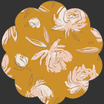 Bed of Roses Amber in Flannel