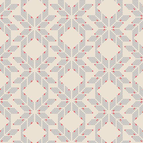 Fairisle Hearts Greige, RCL-607, Sale - Cotton, Product Catalog ...