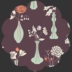 Vintage Vases Eggplant